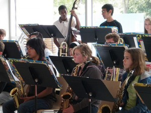 School jazz band fundraiser